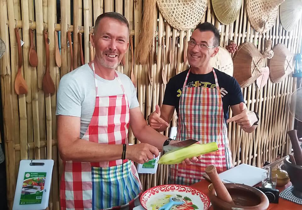 Fun With Papaya At Bamboo Thai Cooking Class